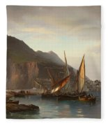 Shipping Off Gibraltar Fleece Blanket