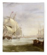 Shipping Off Hartlepool Fleece Blanket