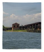Shipping Terminal Fleece Blanket