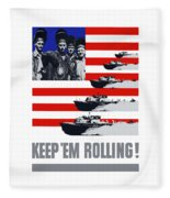 Ships -- Keep 'em Rolling Fleece Blanket