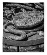 Ships Rope And Pully Fleece Blanket