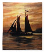 Ships Fleece Blanket