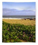Shipwreck Beach Fleece Blanket