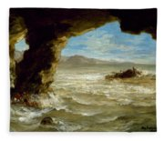 Shipwreck On The Coast  Fleece Blanket