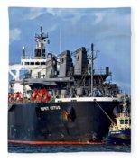 Port Of Amsterdam Fleece Blanket