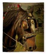Shire Horse Fleece Blanket