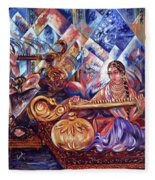 Shiva Parvati Fleece Blanket