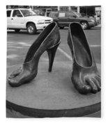 Shoe Sculpture Grand Junction Co Fleece Blanket