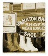 Shoe Shopping In The 30's Fleece Blanket