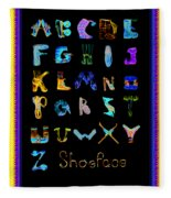Shoeface Fleece Blanket