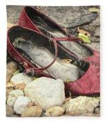 Shoes At The Makeshift Memorial Fleece Blanket