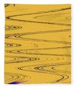 Shoestring Eucalyptus Abstract Fleece Blanket