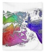 Shoot For The Sky Cool Rainbow 3 Dimensional Fleece Blanket
