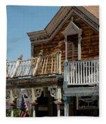Shooting Gallery Virginia City Nv Fleece Blanket