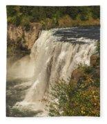 Shooting The Falls Fleece Blanket