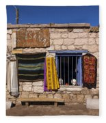 Shopping In Toconao Chile Fleece Blanket