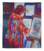 Shopping The Art Fair Fleece Blanket
