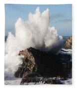 Shore Acres Waves 1 Fleece Blanket