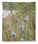 Shore Flowers Fleece Blanket
