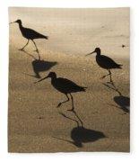 Shorebird Silhouettes Fleece Blanket