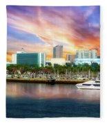 Shoreline Long Beach Ca 09 Fleece Blanket