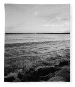 Shoreline Of Jamestown At Dusk Fleece Blanket