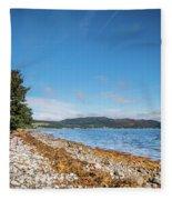 Shoreline On The Kyles Of Bute Fleece Blanket