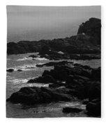 Shoreline - Portland, Maine Bw Fleece Blanket