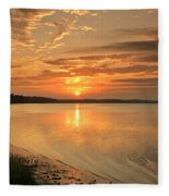 Shoreline Sunset Fleece Blanket