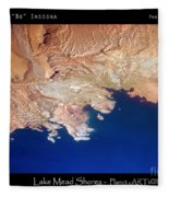 Shores Of Lake Mead Planet Art Fleece Blanket