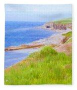 Shores Of Newfoundland Fleece Blanket