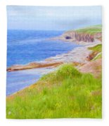 Shores Of Newfoundland Fleece Blanket