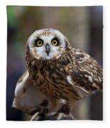 Short Eared Owl Fleece Blanket