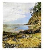 Short Sands Beach, Oregon Fleece Blanket
