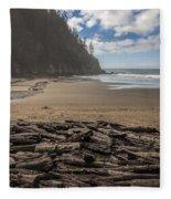 Short Sands Logs Fleece Blanket