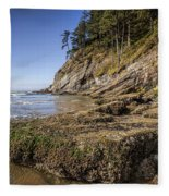 Short Sands Rocks Fleece Blanket