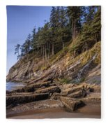 Short Sands Waterfall Fleece Blanket