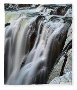 Shoshone Falls Close Up Fleece Blanket