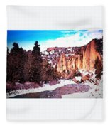 Shoshoni River Canyon Fleece Blanket