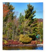Shoul Point Lighthouse - Old Forge Fleece Blanket
