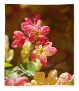 Shower Tree Blossoms Fleece Blanket