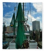 Shrimp Boat Back Fleece Blanket