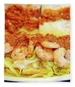 Shrimp Po-boy Fleece Blanket
