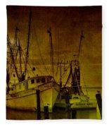 Shrimpboats In Apalachicola  Fleece Blanket