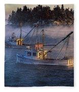 Shrouded In Morning Sea Smoke Fleece Blanket