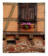 Shutters And Window Box In Kaysersberg Fleece Blanket