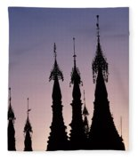Shwedagon Pagodas Fleece Blanket