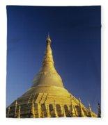 Shwedagon Paya Fleece Blanket