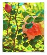 Sketchy Rose Fleece Blanket