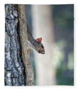 Shy Squirrel Fleece Blanket